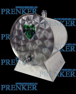 INOX pálinkás tartály, 10 l - fekvő termék fő termékképe
