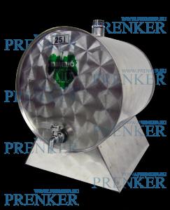 INOX pálinkás tartály, 25 l - fekvő termék fő termékképe
