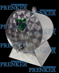 INOX pálinkás tartály, 70 l - fekvő termék fő termékképe
