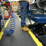 SD010702 Safety Deckplate ipari álláskönnyítő szőnyeg, 0.9 x 1.5 m