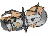Robbanómotoros vágótárcsás gép kölcsönzés