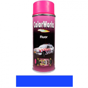 Motip COLOR WORKS fluoreszkáló festék spray, kék, 400 ml termék fő termékképe