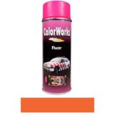 Motip COLOR WORKS fluoreszkáló festék spray, piros/narancs, 400 ml