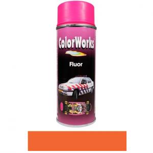 Motip COLOR WORKS fluoreszkáló festék spray, piros/narancs, 400 ml termék fő termékképe