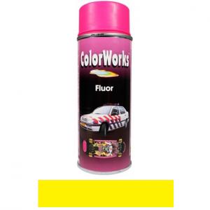 Motip COLOR WORKS fluoreszkáló festék spray, sárga, 400 ml termék fő termékképe