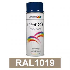 Motip DECO szintetikus festék spray, RAL1019, 400 ml termék fő termékképe