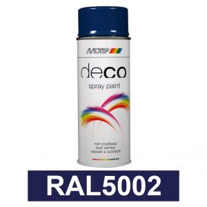 Motip DECO szintetikus festék spray, RAL5002, 400 ml termék fő termékképe