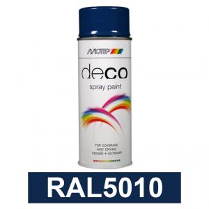 Motip DECO szintetikus festék spray, RAL5010, 400 ml termék fő termékképe