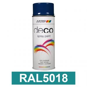 Motip DECO szintetikus festék spray, RAL5018, 400 ml termék fő termékképe