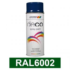 Motip DECO szintetikus festék spray, RAL6002, 400 ml termék fő termékképe