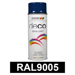 Motip DECO szintetikus festék spray, RAL9005 (fényes fekete), 400 ml termék fő termékképe