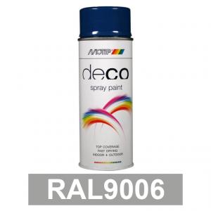 Motip DECO szintetikus festék spray, RAL9006, 400 ml termék fő termékképe