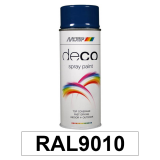 Motip DECO szintetikus festék spray, RAL9010 (fényes fehér), 400 ml