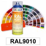 Motip DUPLI COLOR ipari festék spray, RAL9010 (matt fehér), 400 ml