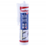 Fischer MK szerelőragasztó, krémfehér, 310 ml