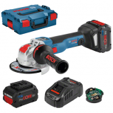 Bosch GWX 18V-10 SC X-LOCK akkus sarokcsiszoló (2 x 8.0 Ah Li-ion akkuval)