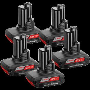 Bosch 5 db GBA vezeték nélkül tölthető Li-ion akkumulátor, 12 V, 2.5 Ah termék fő termékképe