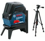 Bosch GCL 2-15 kombinált lézer + RM 1 forgó tartó + BT 150 állvány