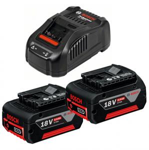 Bosch GAL 1880 CV multivoltos gyorstöltő + 2 db GBA Li-ion akkumulátor, 18 V, 5.0 Ah termék fő termékképe