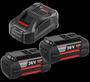 Bosch GAL 3680 CV multivoltos gyorstöltő + 2 db GBA Li-ion akkumulátor, 36 V, 6.0 Ah termék fő termékképe