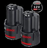 Bosch 2 db GBA Li-ion akkumulátor, 12 V, 3.0 Ah