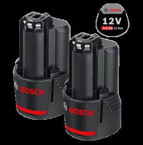 Bosch 2 db GBA Li-ion akkumulátor, 12 V, 3.0 Ah termék fő termékképe