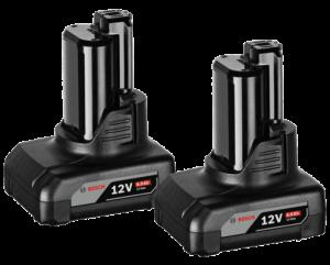Bosch 2 db GBA Li-ion akkumulátor, 12 V, 6.0 Ah termék fő termékképe