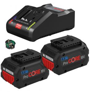 Bosch GAL 18V-160 C gyorstöltő Bluetooth Low Energy modullal + 2 db ProCORE Li-ion akkumulátor, 18 V, 8.0 Ah termék fő termékképe