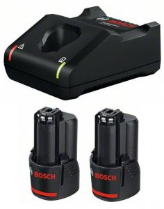 Bosch GAL 12V-40 gyorstöltő + 2 db GBA Li-ion akkumulátor, 12 V, 3.0 Ah termék fő termékképe