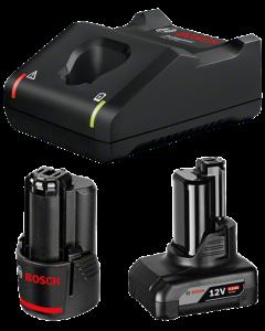 Bosch GAL 12V-40 gyorstöltő + 1 db GBA 12V 2.0Ah Li-ion akkumulátor + 1 db GBA 12V 4.0Ah Li-ion akkumulátor termék fő termékképe