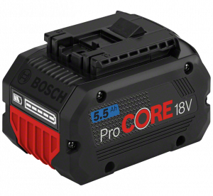 Bosch ProCORE nagy teljesítményű Li-ion akkumulátor, 18 V, 5.5 Ah termék fő termékképe