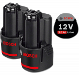 Bosch 2 db GBA Li-ion akkumulátor, 12 V, 2.0 Ah