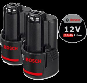 Bosch 2 db GBA Li-ion akkumulátor, 12 V, 2.0 Ah termék fő termékképe