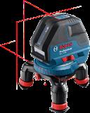 Bosch GLL 3-50 vonallézer + BM 1 univerzális tartó (4 x 1.5 V LR6 elemmel)