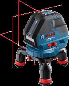 Bosch GLL 3-50 vonallézer + BM 1 univerzális tartó (4 x 1.5 V LR6 elemmel) termék fő termékképe