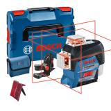 Bosch GLL 3-80 C vonallézer + BM 1 univerzális tartó (akku és töltő nélkül)