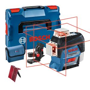 Bosch GLL 3-80 C vonallézer + BM 1 univerzális tartó (akku és töltő nélkül) termék fő termékképe