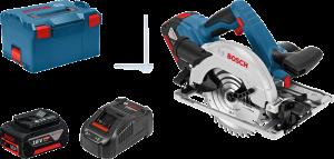 Bosch GKS 18V-57 G akkus kézi körfűrész (2 x 5.0 Ah Li-ion akkuval) termék fő termékképe