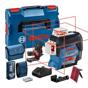 Bosch GLL 3-80 C vonallézer + BM 1 univerzális tartó (1 x 2.0 Ah Li-ion akkuval) termék fő termékképe