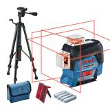 Bosch GLL 3-80 C vonallézer + BT 150 állvány (4 x 1.5 V LR6 elemmel)