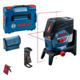 Bosch GCL 2-50 C kombinált lézer + RM 2 forgószerelvény + BM 3 fali tartó (akku és töltő nélkül)