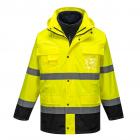 150D vízálló - lélegző jól láthatósági kabátok - ipari