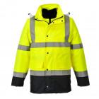 300D vízálló - lélegző jól láthatósági kabátok - ipari