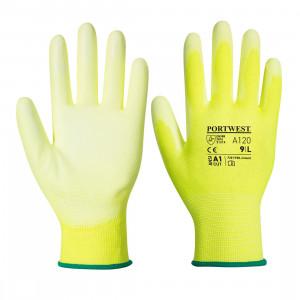 Portwest A120 - PU tenyérmártott kesztyű, sárga termék fő termékképe