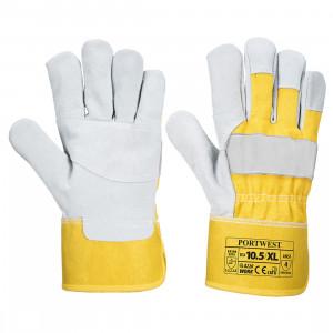 Portwest A220 - Prémium bőrkesztyű, sárga termék fő termékképe