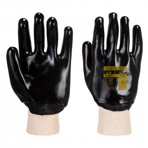 Portwest A400 - Csuklóig mártott PVC kesztyű, fekete termék fő termékképe