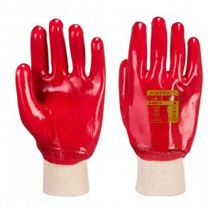 Portwest A400 - Csuklóig mártott PVC kesztyű, piros termék fő termékképe
