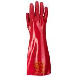 Portwest A445 - PVC hosszú szárú kesztyű 45 cm, piros
