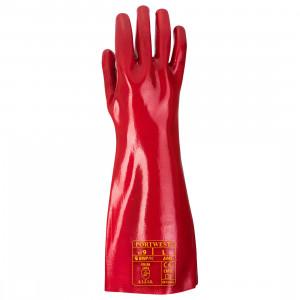 Portwest A445 - PVC hosszú szárú kesztyű 45 cm, piros termék fő termékképe