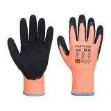 Portwest A646 - Vis-Tex Winter HR Cut vágásbiztos nitril kesztyű Cut - / D, narancs/fekete